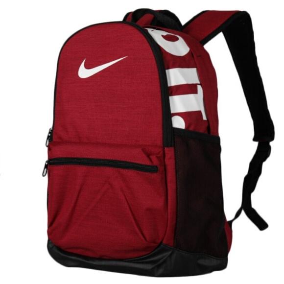 fb5376aa3e9 Nike Bags   Brasilia Red Just Do It Training Backpack   Poshmark